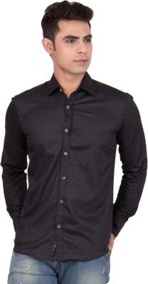 FDS Men,s Animal Print Casual Reversible Dark Blue Shirt