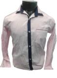 Spykey Men's Self Design Formal Pink Shi...