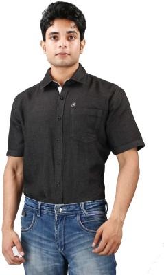 Relish Men's Solid Formal Black, White Shirt