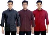 Atmosphere Men's Solid Casual Multicolor...