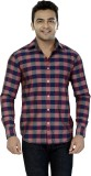 Jazzup Men's Striped Casual Multicolor S...