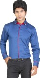 Red Country Men's Solid Casual Blue Shir...
