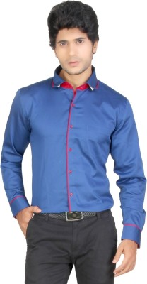 Red Country Men's Solid Casual Blue Shirt