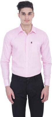LONDON LOOKS Men's Solid Formal Pink Shirt
