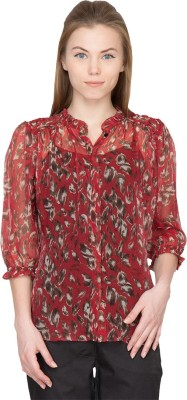 Species Women,s Floral Print Party Red Shirt