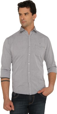 Donear NXG Men's Solid Casual Grey Shirt