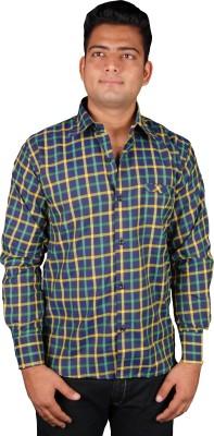 Favourite Men's Checkered Casual Green Shirt