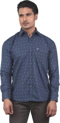 Tabard Men's Printed Casual Blue Shirt