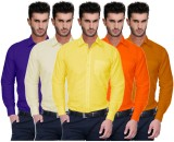 Nimegh Men's Solid Casual Orange, Yellow...