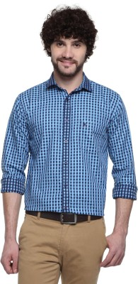 D,INDIAN CLUB Men's Checkered Formal Multicolor Shirt