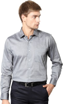 University of Oxford Men's Solid Casual Grey Shirt