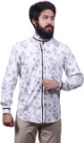 Fadjuice Men's Floral Print Casual White...