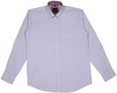 Esoft Men's Checkered Casual White Shirt