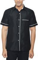 Kenrich Formal Shirts (Men's) - KENRICH Men's Solid Formal Black Shirt