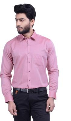 Hoffmen Men's Solid Formal Pink Shirt