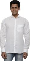 Ach Fashion Formal Shirts (Men's) - Ach Fashion Men's Self Design Formal White Shirt
