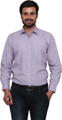 Lee Marc Men's Solid Formal Purple Shirt