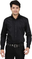 A Formal Shirts (Men's) - A/K STYLE Men's Solid Formal Black Shirt