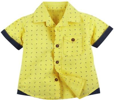 Fisher-Price Baby Boy's Printed Casual Yellow Shirt