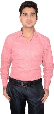 Culture Plus Men's Solid Formal Pink, Pink Shirt