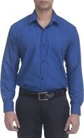Trensup Formal Shirts (Men's) - Trensup Men's Solid Formal Dark Blue Shirt