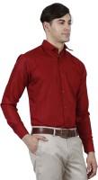 Human Steps Formal Shirts (Men's) - Human Steps Men's Solid Formal Red Shirt