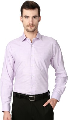 University of Oxford Men's Solid Casual Pink Shirt