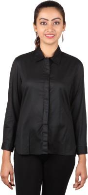 Lmfao Women's Solid Formal Black Shirt