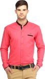 Spawn Men's Solid Casual Pink Shirt