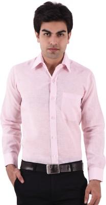 AA CORPORATION Men's Self Design Casual White Shirt