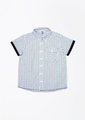People Boy's Checkered Casual Multicolor Shirt