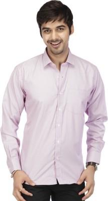 Acropolis Men's Checkered Formal Purple Shirt