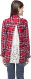 Stylestone Women's Checkered Casual Red ...