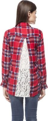 Stylestone Women's Checkered Casual Red Shirt