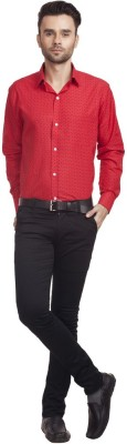 Zuricch Men's Floral Print Casual Red Shirt