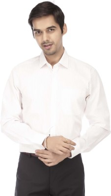 STOP by Shoppers Stop Men's Striped Formal White Shirt