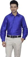 Jpeters Formal Shirts (Men's) - Jpeters Men's Solid Formal Purple Shirt