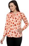 99 Hunts Women's Printed Casual Orange S...