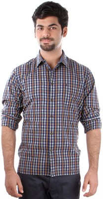 Indian Terrain Men's Checkered, Striped Casual Multicolor Shirt