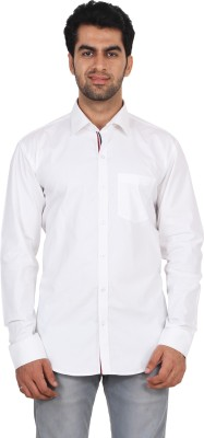 Rollinia Men,s Solid Casual White Shirt