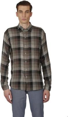 Baba Rancho Men's Checkered Casual Grey Shirt