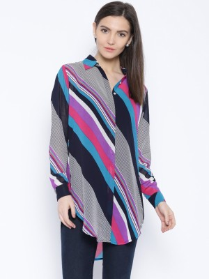 Silly People Women's Printed Casual Multicolor Shirt