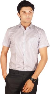 Kriss Men's Striped Casual Purple Shirt
