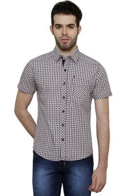 True Tittos Men's Checkered Casual Red, Blue, White Shirt