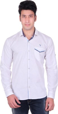 PICKLE Men's Solid Casual, Formal, Party, Festive White Shirt
