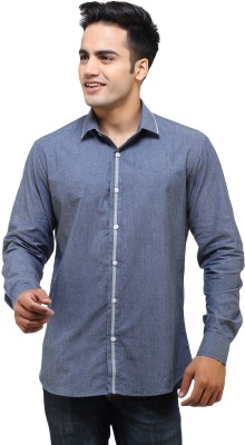 See Designs Men's Solid Casual Grey Shirt