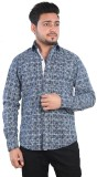 Just Differ Men's Embellished Casual Blu...