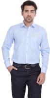 Blue Bird Formal Shirts (Men's) - Blue Bird Men's Self Design Formal Linen Light Blue Shirt