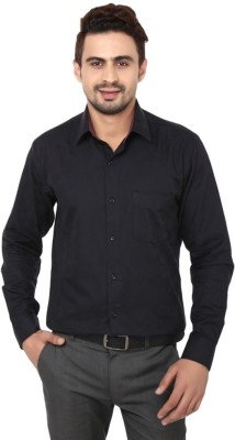 Badstreet Boys Men's Solid Formal Black Shirt