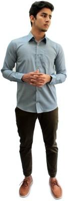Privee Paris Men,s Woven Casual, Party, Formal Grey Shirt